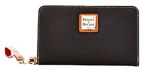Dooney & Bourke ***** RESERVED******Dooney & Bourke Pebble Grain Leather Zip Around Phone Wristlet in Black & Continental Wallet in Black (total 2 wallets)