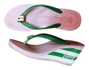 Juicy Couture Pink green Wedges