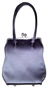 Anya Hindmarch Silver Hardware With Rhinestone Closure Vintage Inside Small Pocket Evening Dust Satchel in Gunmetal Grey