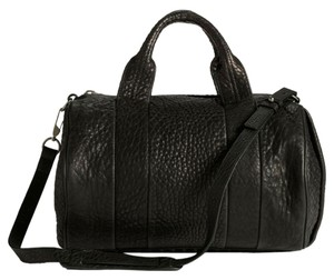 Alexander Wang Rocco Satchel in Black / Black Nickel
