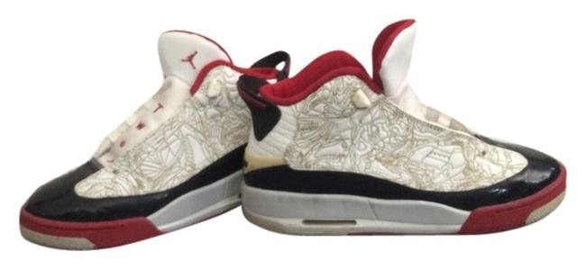 Item - Red/Black/White/Gold Sneakers Size US 5