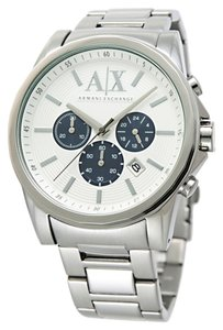 A|X Armani Exchange Armani Exchange AX2500 Men's Silver Analog Watch With Silver Dial