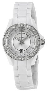Fossil Fossil Women's ES3251 White Analog Quartz Watch with Silver Dial
