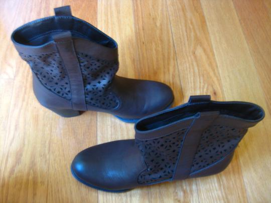 Crown Vintage Cowboy Chunky Leather Brown Boots