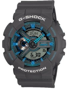 G-Shock G-Shock Men's GA110TS-8A2CR Grey Blue Watch With Ana-Digi Dial