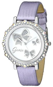Guess GUESS Women's U0302L2 Bow Inspired Lilac Watch with Silver Dial