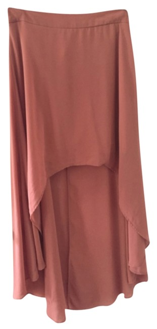 Forever 21 Highlow Maxi Skirt Coral