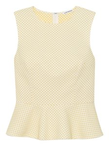 Club Monaco Peplum Spring Summer Top Yellow