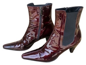 Aquatalia by Marvin K. Patent Leather Weatherproof Chianti Boots