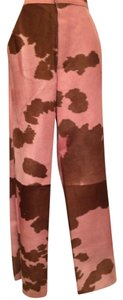 Fendi Trouser Pants Pink/Brown Calf Hair