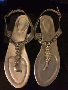 Silver Sandals Size US 8.5