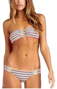 CA By Vitamin A Vitamin A Women's Karlie Beaded Bandeau Top & Hipster Swimwear NWT