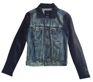 Veda x Madewell Denim Jean Blue/Black Womens Jean Jacket