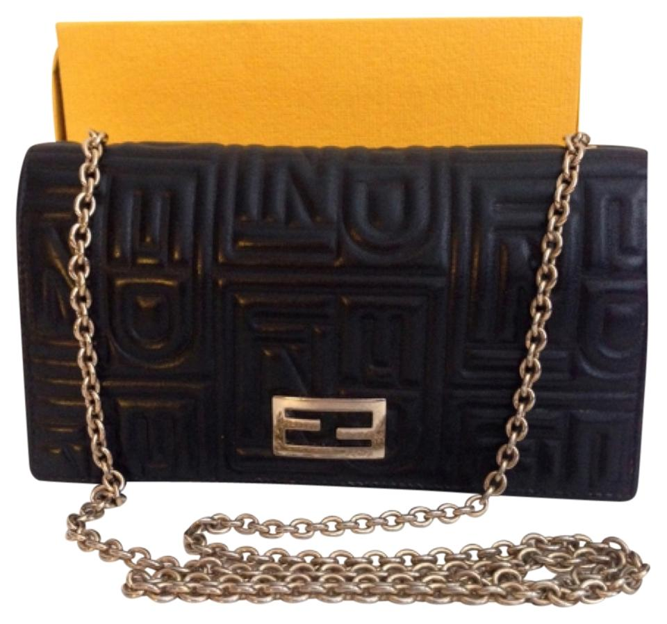 5bbd039f29a0 Fendi Fendi Embossed Nappa Leather Wallet With Chain Image 0 ...