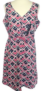Gap short dress Pink/Navy Blue/White on Tradesy