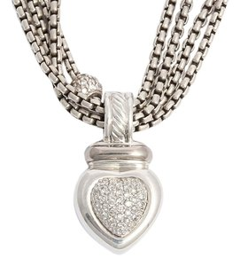 David Yurman David Yurman Diamond Heart Necklace