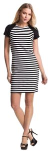 Michael Kors short dress Black and white Striped Sheath on Tradesy