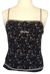 Gap Floral Boho Top Charcoal Gray