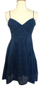 American Eagle Outfitters short dress Blue Polka Dot on Tradesy