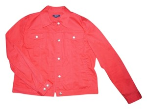 Chaps Red Womens Jean Jacket