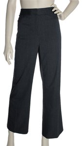 Lafayette 148 New York Virgin Wool Stretch Straight Pants Gray