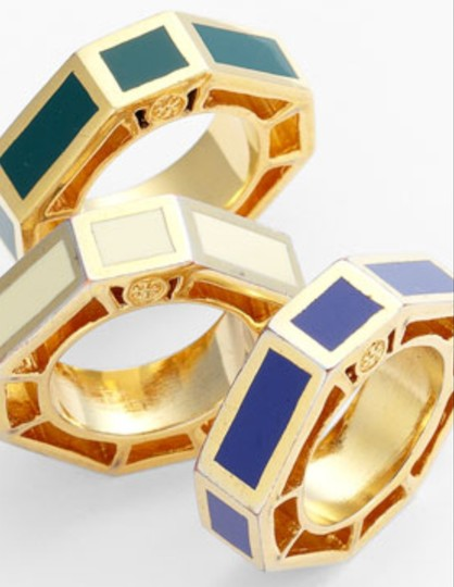 Tory Burch Tory Burch Ryan Enamel Octagon Ring