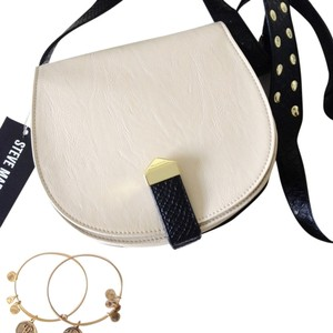 Steve Madden Gold Hardware Studded Leather Cross Body Bag