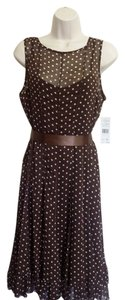 Jessica Howard short dress Brown with white polka-dots on Tradesy