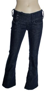 Diesel Stretch Low-rise Flare Leg Jeans-Dark Rinse