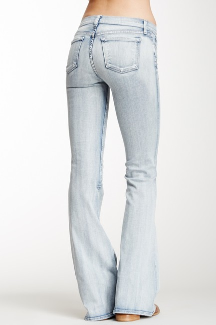 J Brand Stretch Low-rise Bell Bottom Flare Leg Jeans-Light Wash