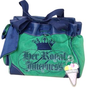 Juicy Couture Tote in Green And Navy Blue
