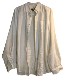 Indigo Palms Button Down Shirt Off-white