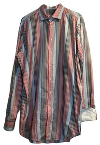 Thomas Dean Button Down Shirt Multi color