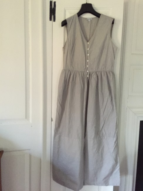Off white and grey stripe Maxi Dress by Steven Alan Pockets Relaxed Fit Made In Usa Cotton