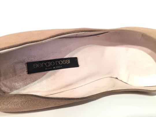 Sergio Rossi Real Leather Made In Italy Beige - Suede Pumps