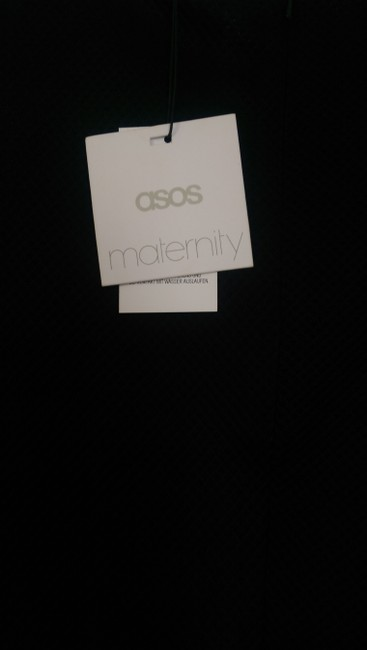 ASOS ASOS Maternity Textured Playsuit With Tie Front Black Size UK 12 US 8 NWT