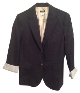 J.Crew Navy with small white pinstripes Blazer