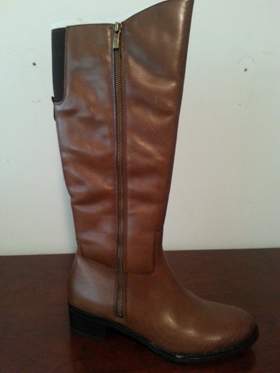 Franco Sarto Midcalf Leather Brown Boots