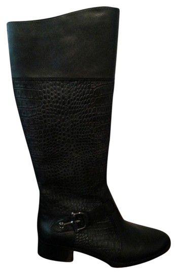 Circa Joan David Leather Buckle Black Boots