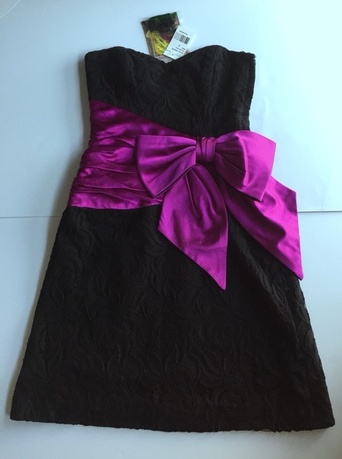 Betsey Johnson Lace Strapless Bow Dress