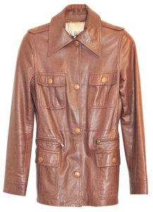 Céline Michael Kors Safari Leather Retro Leather Jacket
