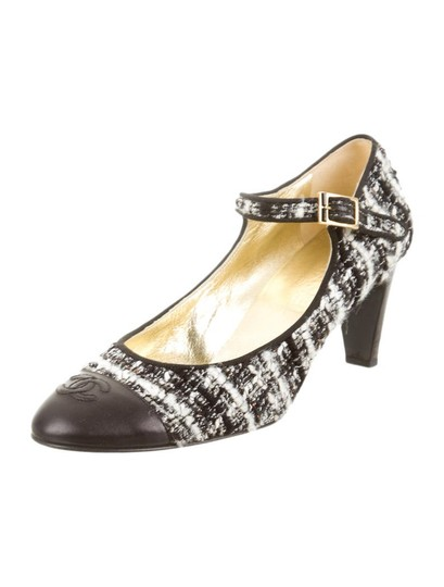 Chanel Strappy Boucle And Black & white Pumps