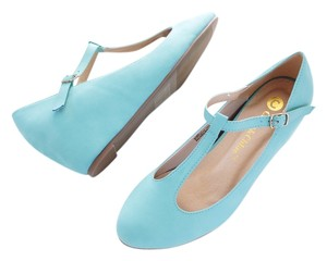 Other Mary Jane Aqua Tiffany Blue Aqua Blue Wedges