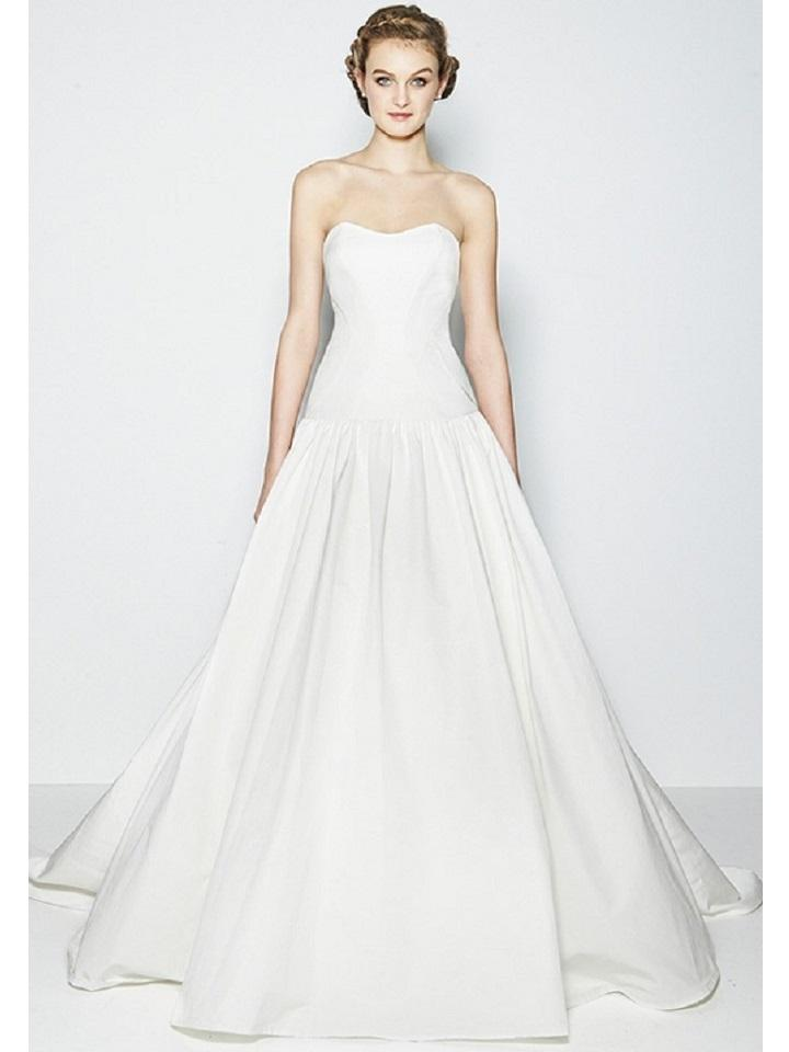 a78160ab244f Nicole Miller Bridal Ivory Silk Faille Laurel Ie10001 Modern Wedding Dress