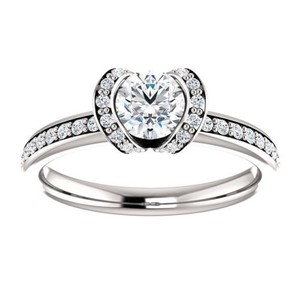 1.30 Ct D/si1 Round Diamond Solitaire Engagement Ring 14 K White Gold