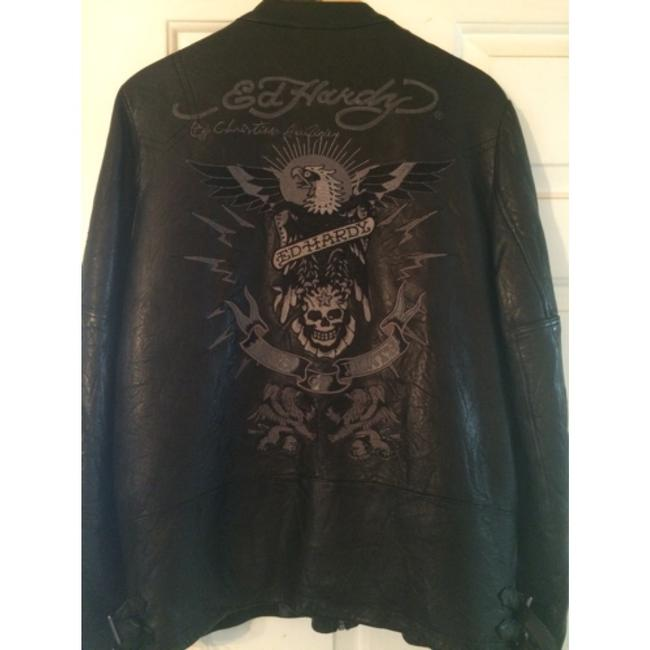 Edd hardy mens Leather Jacket