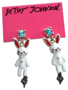 Betsey Johnson Betsey Johnson Bunny & Hearts Drop Post Earrings - So Cute! Brand New!