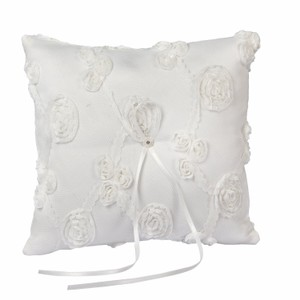 Elegant Lace Ring Bearer Pillow For Wedding Prom White