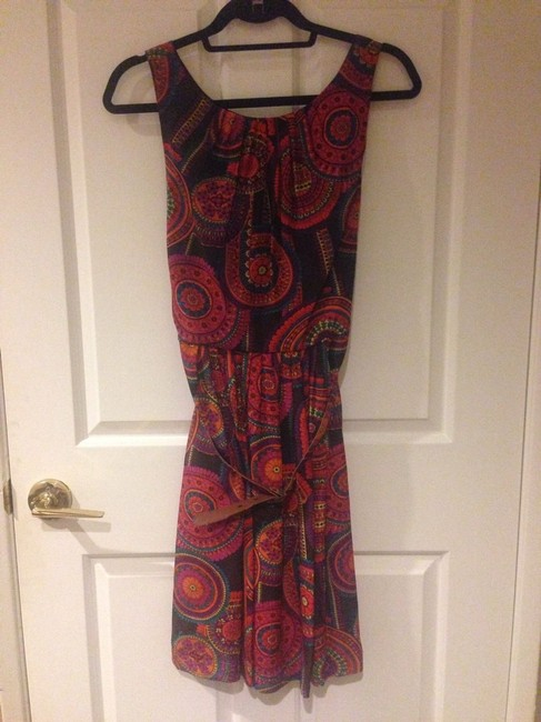 Trina Turk Fall Business Silk Belted Fit And Flare Dress