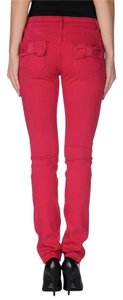 RED Valentino Bow Straight Leg Jeans-Medium Wash